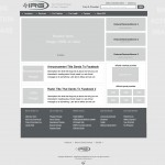A wireframe mockup of what the homepage could be structured like.