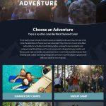 website redesign for Black Diamond Adventure Camps
