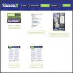 Singular web page design