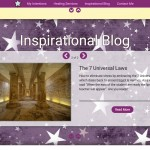 The blog slider is automatically updated with latest postings