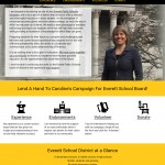 Responsive web design for political candidate website