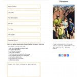Responsive web design for volunteer form